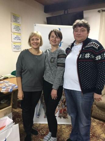 Луиза Носкова и Ольга Мельник в гостях центре Поколение